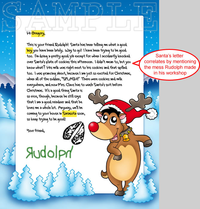 a delightful and fun letter from rudolph