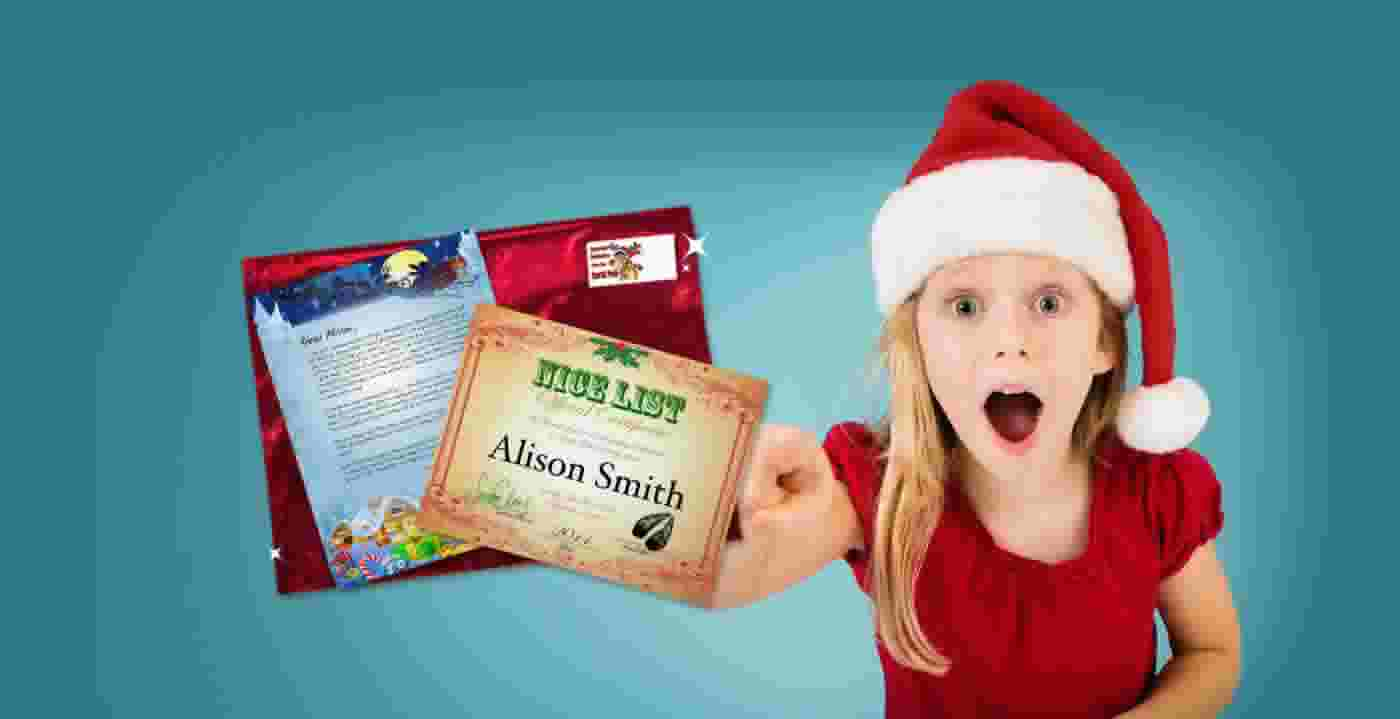 Suprise your children with a personalized letter package straight from Santa!