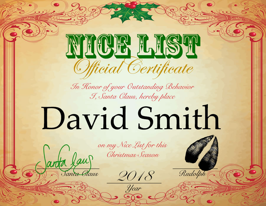 Template Certificate From Santa Claus Christmas Voucher Template
